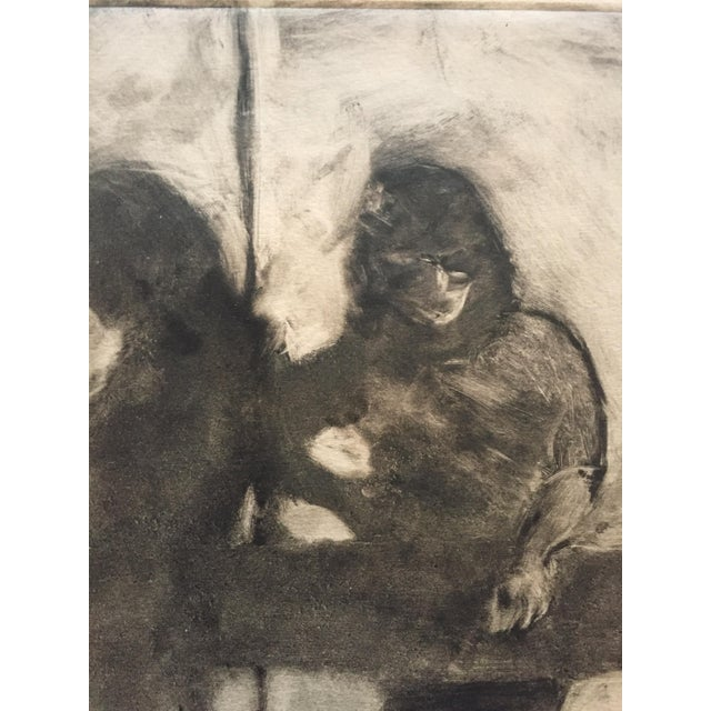 1980s Vintage Two Figures Lithograph by Lisa Winick - Image 3 of 5