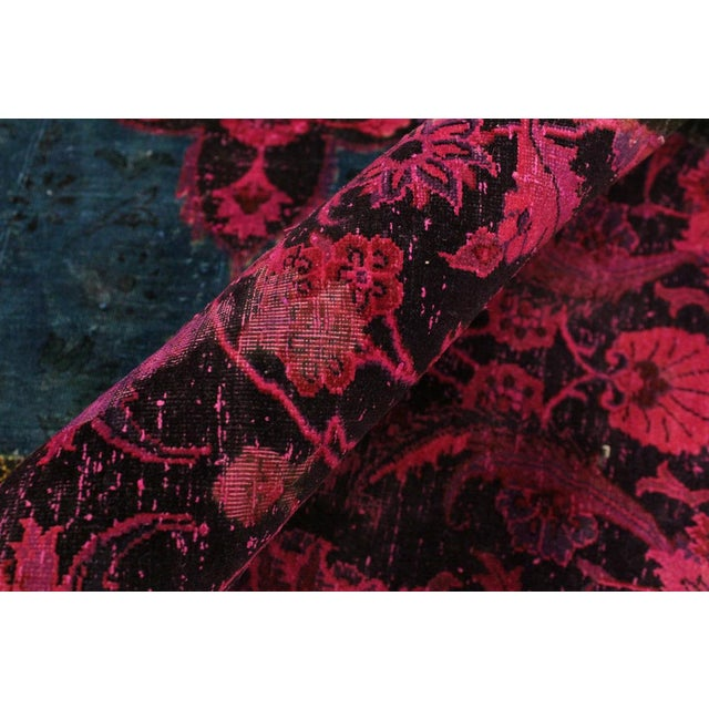 Contemporary Patchwork Color Reform Kevin Green/Magenta Area Rug - 8'1 X 10'3 For Sale - Image 3 of 8