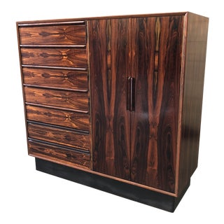 1950s Scandinavian Modern Westnofa of Norway Brazilian Rosewood Gentleman's Chest For Sale