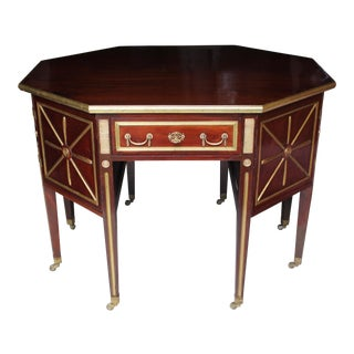 19th Century Neoclssical Mahogany Brass-Mounted Writing Desk For Sale