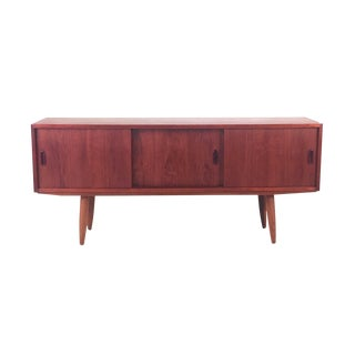 Vintage Scandinavian Modern Teak Sideboard For Sale