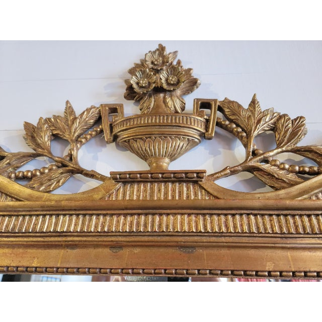 French 20th Century French Grand Gilt Mirror From Waldorf Astoria For Sale - Image 3 of 10