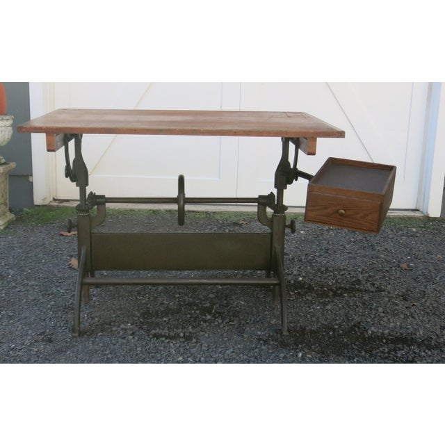 20th Century Industrial Hamilton Drafting Table For Sale - Image 10 of 10