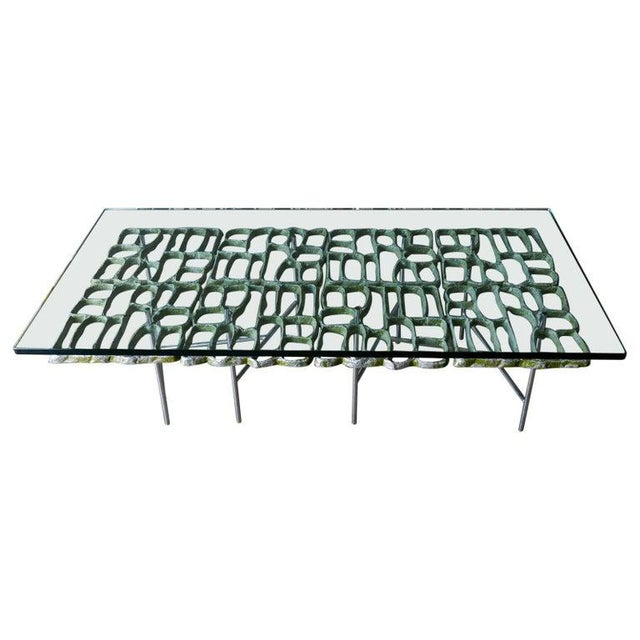 1970s Sculptural Brutalist Coffee Table By Donald Drumm For Sale - Image 11 of 11