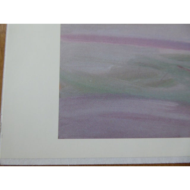 """1980's """"Sand & Water"""" Abstract Lithograph For Sale - Image 4 of 5"""