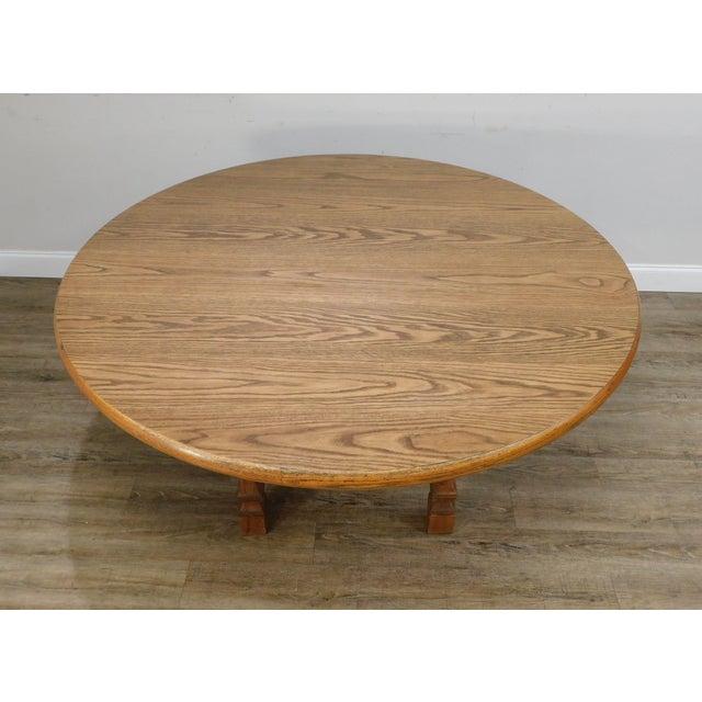 Romweber Viking Oak Round Dining Table For Sale In Philadelphia - Image 6 of 13