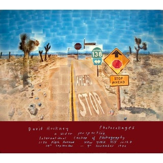 David Hockney, Pearblossom Highway, Offset Lithograph, Edition: 2000, 1986 For Sale