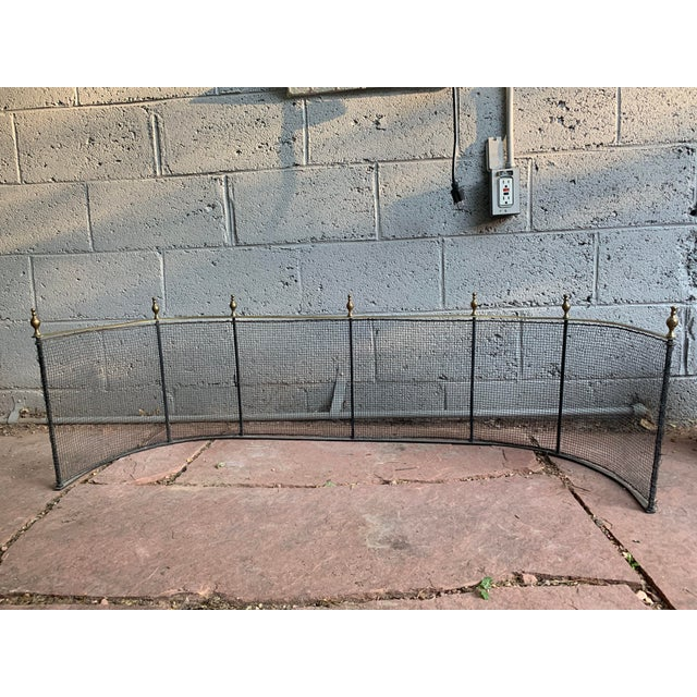 Early 19th Century 1800 Federal Style Brass and Wire Steeple Top Fire Fender For Sale - Image 5 of 13