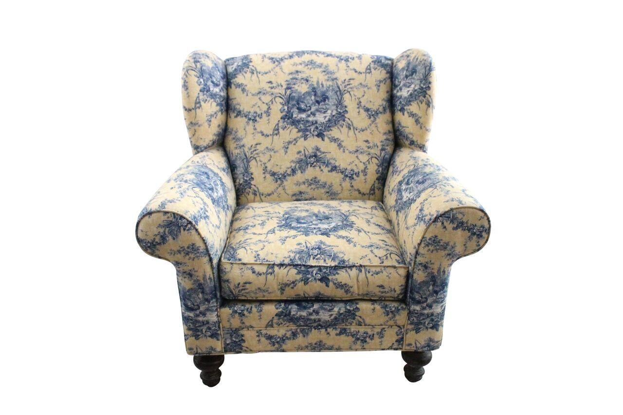 Rooster U0026 Toile Club Chairs U0026 Ottoman   Set Of 3   Image ...