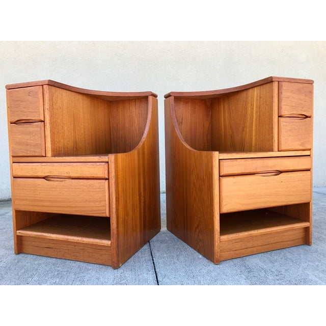 Danish Modern Teak End Tables- A Pair - Image 2 of 11