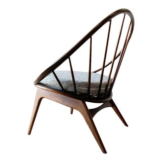 "Danish Mid Century Modern ""Hoop"" Chair by Kofod Larsen for Selig For Sale"
