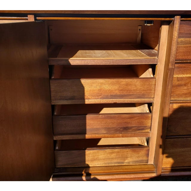Brown Mid-Century Modern Dresser - Credenza - Sideboard by Davis Cabinet Company For Sale - Image 8 of 11