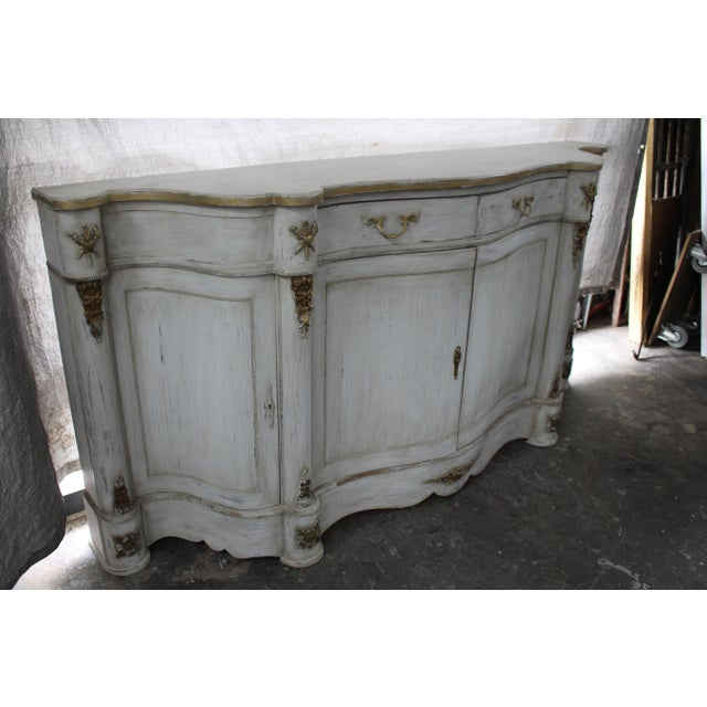 Early 20th Century 20th Century French Curved Sideboard For Sale - Image 5 of 8