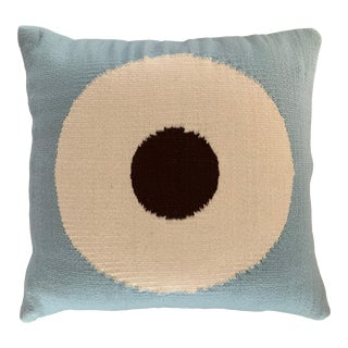 Jonathan Adler Vintage Bullseye Dual Sided Needlepoint Pillow For Sale
