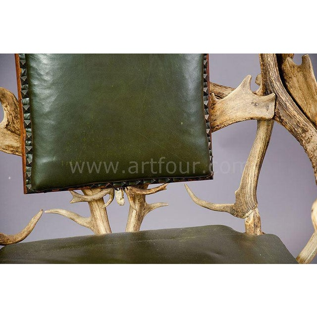 Late 19th Century Antique Black Forest Three Seater Antler Sofa 1900 For Sale - Image 5 of 6