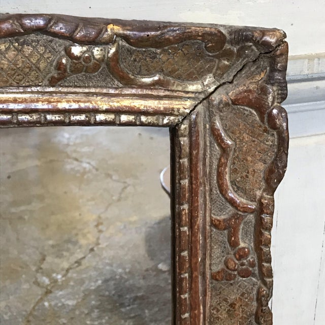 French Provincial 19th Century Giltwood Mirror For Sale - Image 3 of 11