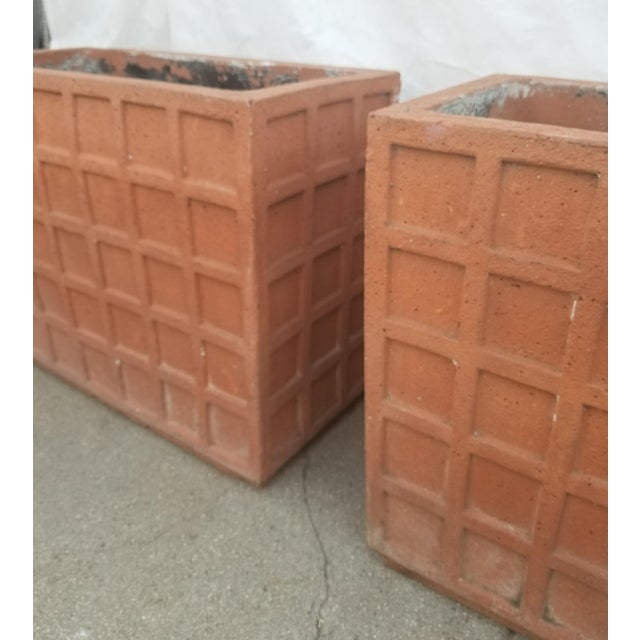 Terracotta Italian Rectangular Planters - a Pair For Sale - Image 4 of 6