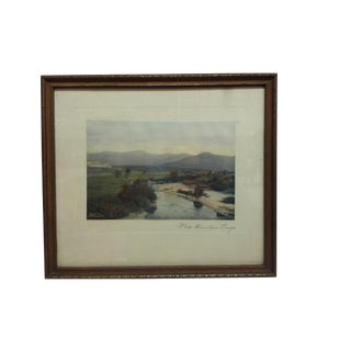 "Vintage Framed and Mounted Color Photograph, ""White Mountain Range"" For Sale"