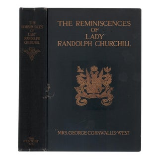 "1908 ""Reminiscences of Lady Randolph Churchill"" Collectible Book For Sale"