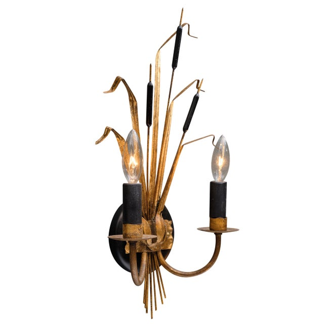 Art Deco Vintage French Sheaf of Wheat Sconces by Maison Baguès For Sale - Image 3 of 10