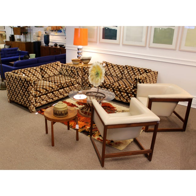 Mid-Century Modern Mid Century Modern Milo Baughman Foremost Pair of Loveseats 1970s Larsen Style For Sale - Image 3 of 12