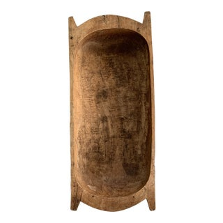 Mid 19th Century Wood Dough Bowl Trough Trencher For Sale