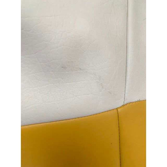 White 1970s White and Yellow De Sede Sneaker Bean Bag Chair or Ottoman For Sale - Image 8 of 12