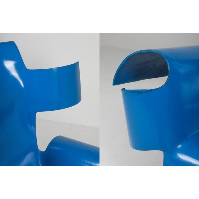 Blue Functional Art Chair in the Style of Gaetano Pesce - 1980s For Sale - Image 8 of 11