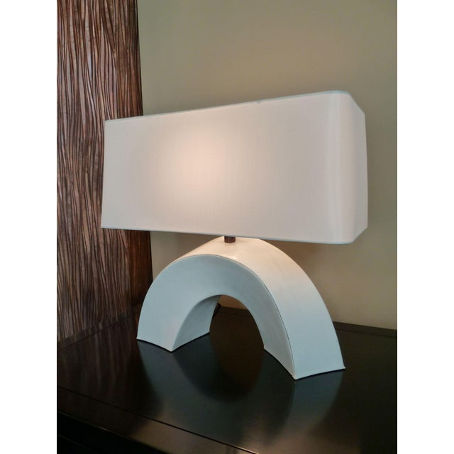 Contemporary Arch Lamp - Cream Lacquer For Sale - Image 3 of 3