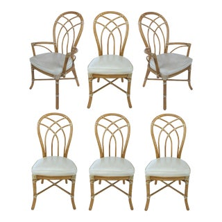 McGuire Rattan Dining Chairs - Set of 6