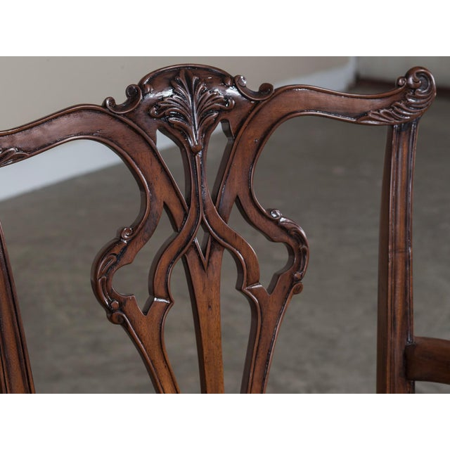 Set Eight George III Chippendale Style Mahogany Dining Chairs, Custom Stain Finish, England - Image 4 of 9