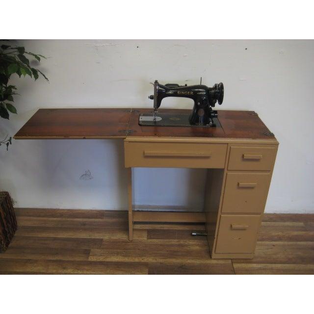 Vintage Singer Sewing Table - Image 2 of 11