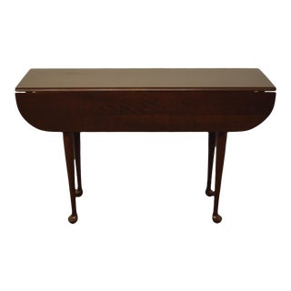 Traditional Tom Seely Solid Cherry Drop Leaf Accent Table For Sale