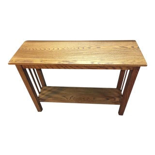 Handmade Reclaimed Oak Mission Style Console For Sale