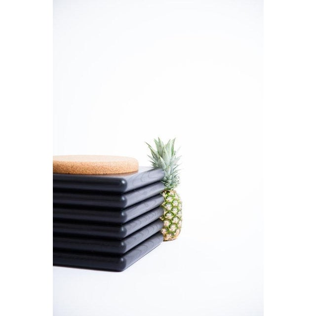 Not Yet Made - Made To Order Ebonized Ridge Stool With Cork For Sale - Image 5 of 6