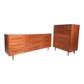 Midcentury Widdicomb Bedroom Set in the Style George Nakashima For Sale