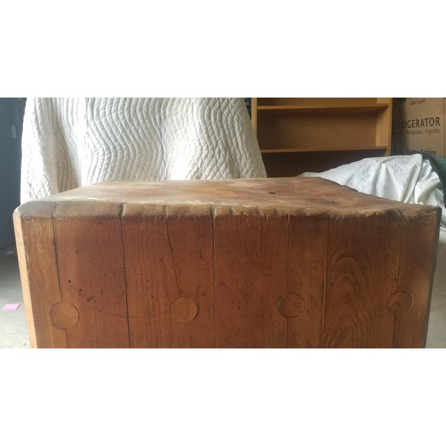 Early 20th Century Antique Butcher Block For Sale - Image 4 of 13