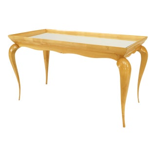 French Sycamore Coffee Table, 1930 For Sale