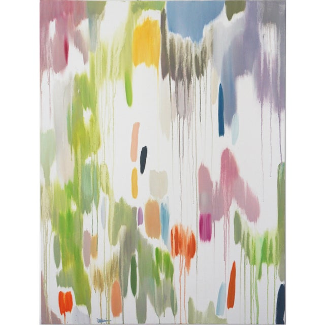 """2016 Natalia Roman Abstract Painting, """"Tropical Vines Palette"""" For Sale"""