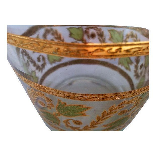 Mid-Century Gilt & Green Glass Ice Bucket - Image 3 of 3