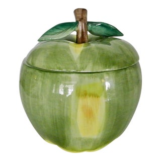 Fitz and Floyd Green Apple Cookie Jar For Sale