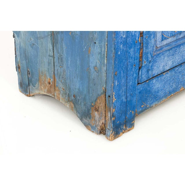 Indigo Painted Buffet For Sale - Image 12 of 13