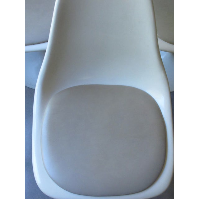 Mid-Century Tulip Burke Dining Swivel Chairs - S/4 - Image 5 of 9