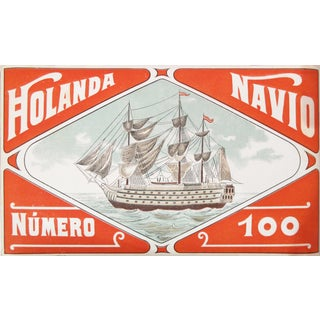 1920s Barcelonian Label, Holanda Navio Spanish Ship