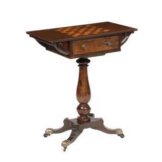 English Mahogany Games Table Composed of Antique Elements For Sale