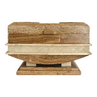 1980s Postmodern Tessellated Stone Box For Sale