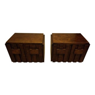 1970s Mid-Century Modern Lane Paul Evans End Tables - a Pair For Sale