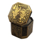 Image of Antique Chinese Export Chinoiserie Tea Caddy For Sale