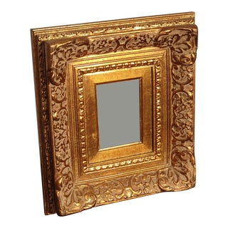 "Vintage 20""x18"" French Provincial Ornately Carved Gold Picture Frame For Sale"