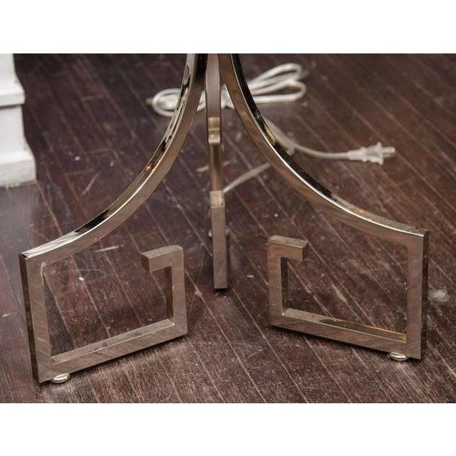 Chrome Greek Key Floor Lamp For Sale - Image 4 of 6